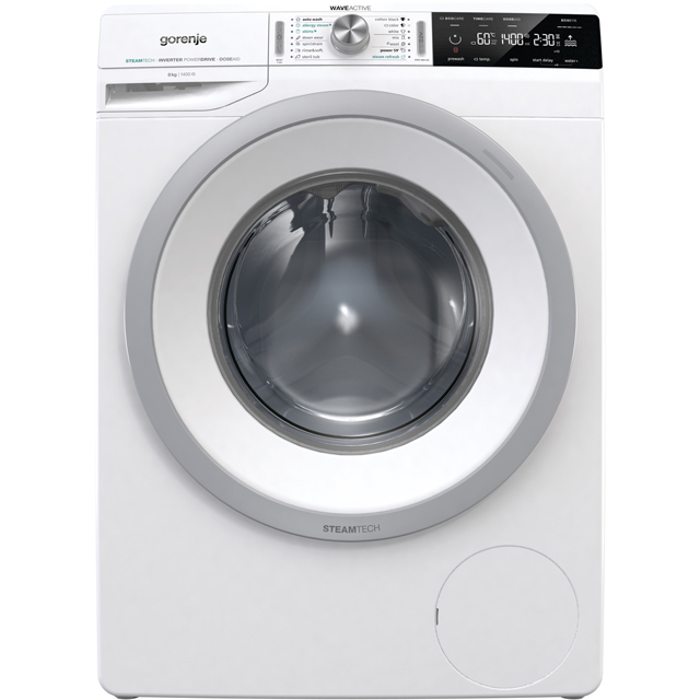 Gorenje WA843S 8Kg Washing Machine with 1400 rpm - White - WA843S_WH - 1