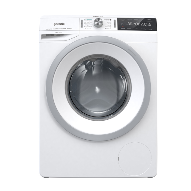 Gorenje WaveActive WA946 9Kg Washing Machine with 1400 rpm - White - A+++ Rated - WA946_WH - 1