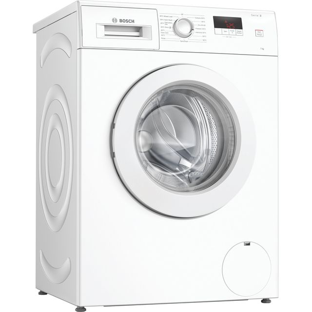 Bosch Serie 2 WAJ24006GB 7Kg Washing Machine with 1200 rpm - White - A+++ Rated - WAJ24006GB_WH - 1