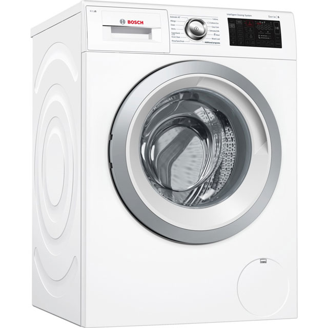 Bosch Serie 6 i-Dos™ WAT286H0GB Wifi Connected 9Kg Washing Machine with 1400 rpm - White - A+++ Rated