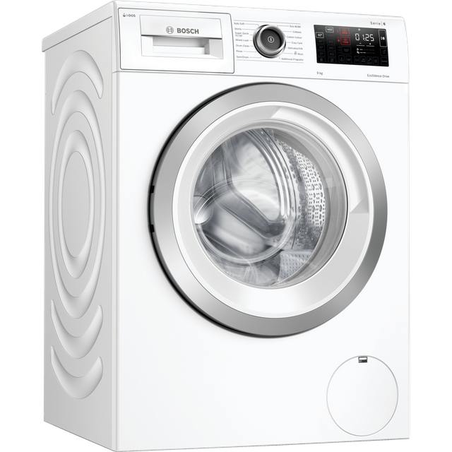Bosch Serie 6 i-Dos™ 9Kg Washing Machine - White - C Rated