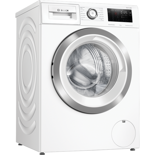 Bosch Serie 6 WAU28R90GB 9Kg Washing Machine with 1400 rpm - White - A+++ Rated