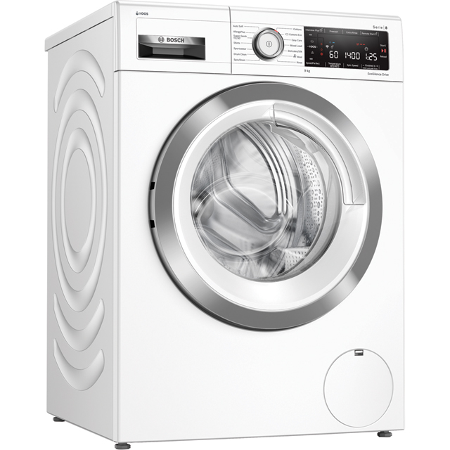 Bosch Serie 8 WAV28KH9GB Wifi Connected 9Kg Washing Machine with 1400 rpm - White - A+++ Rated - WAV28KH9GB_WH - 1