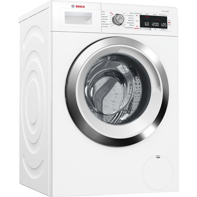 Bosch Serie 8 WAW285H0GB Wifi Connected 9Kg Washing Machine with 1400 rpm - White - A+++ Rated - WAW285H0GB_WH - 1