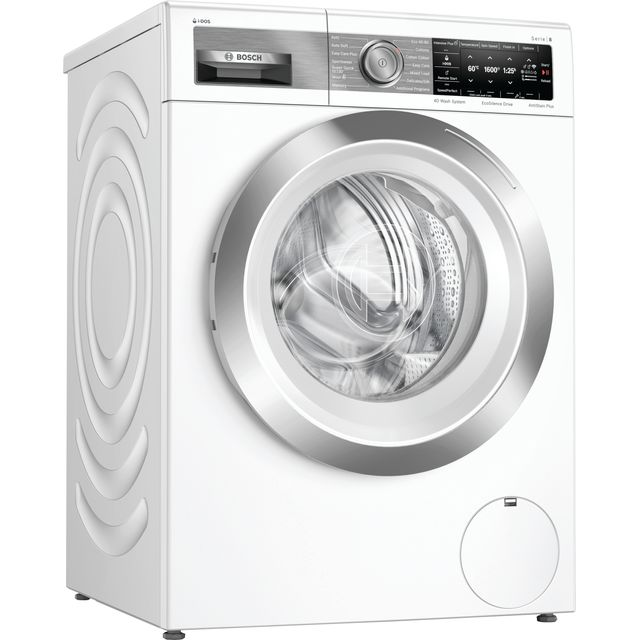 "Bosch Serie 8 i-Dosâ""¢ WAX32EH1GB Wifi Connected 10Kg Washing Machine with 1600 rpm - White - A+++ R"