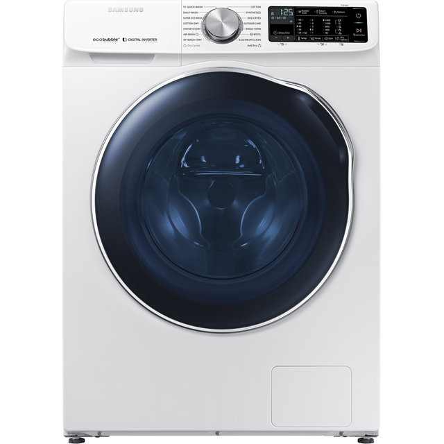 Samsung ecobubble™ WD10N645RAW Wifi Connected 10Kg / 6Kg Washer Dryer with 1400 rpm - White - WD10N645RAW_WH - 1