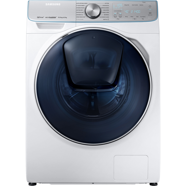 Samsung QuickDrive™ WD10N84GNOA 10Kg / 6Kg Washer Dryer - White - WD10N84GNOA_WH - 1