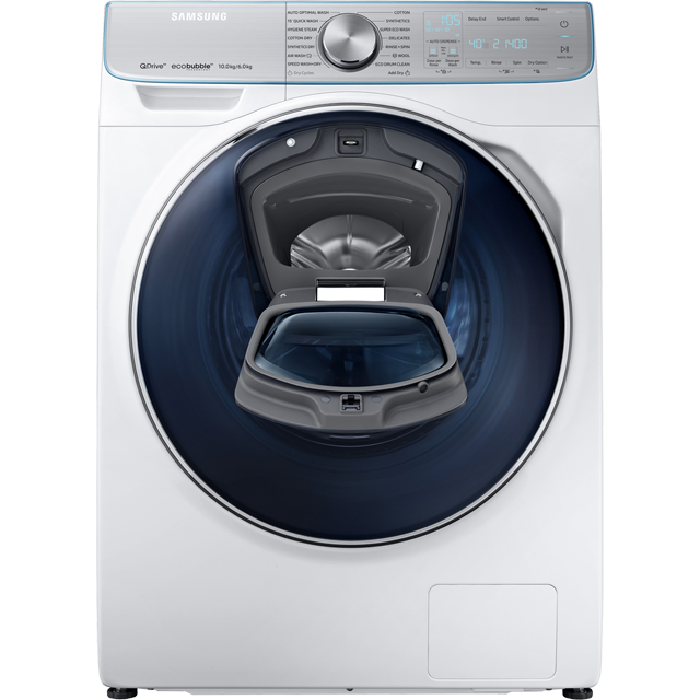 Samsung QuickDrive™ WD10N84GNOA 10Kg / 6Kg Washer Dryer - White - WD10N84GNOA_WH - 2