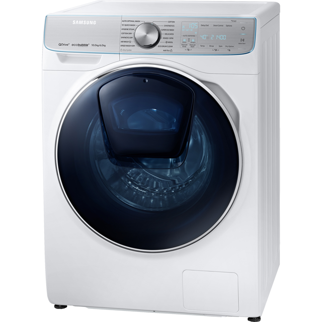 Samsung QuickDrive™ WD10N84GNOA 10Kg / 6Kg Washer Dryer - White - WD10N84GNOA_WH - 3