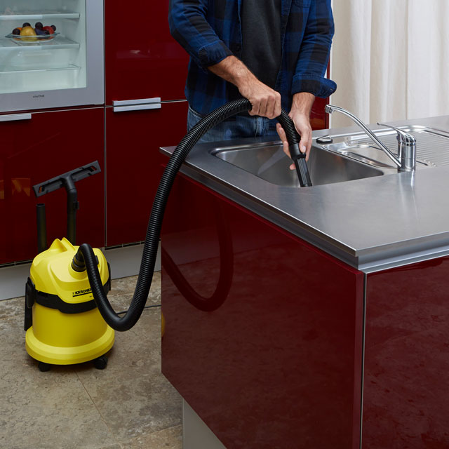 Kärcher WD2 Wet and Dry Vacuum, Steel
