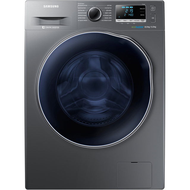 Samsung ecobubble™ WD80J6A10AX 8Kg / 5Kg Washer Dryer with 1400 rpm - A Rated