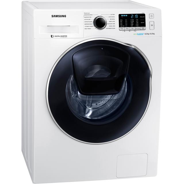 Image of Samsung AddWash WD80K5B10OW   8kg+6kg  in