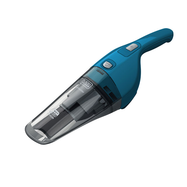 Black & Decker 7.2v Wet and Dry Dustbuster WDB215WA-GB Handheld Vacuum Cleaner in Blue