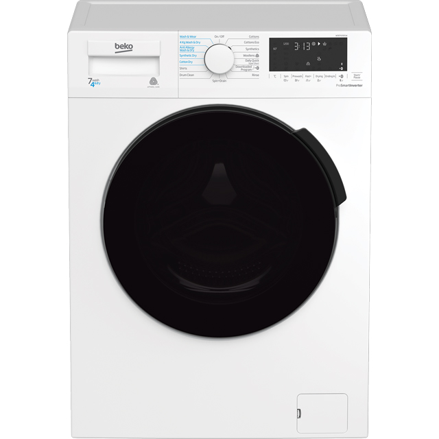 Beko WDB7426R1W Washer Dryer - White - WDB7426R1W_WH - 1