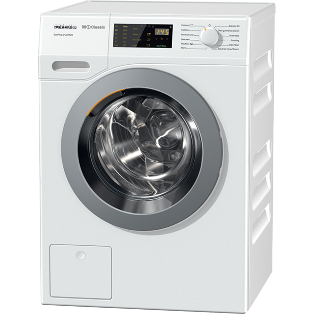 Miele W1 WDD030 8Kg Washing Machine with 1400 rpm - White - A+++ Rated - WDD030_WH - 1