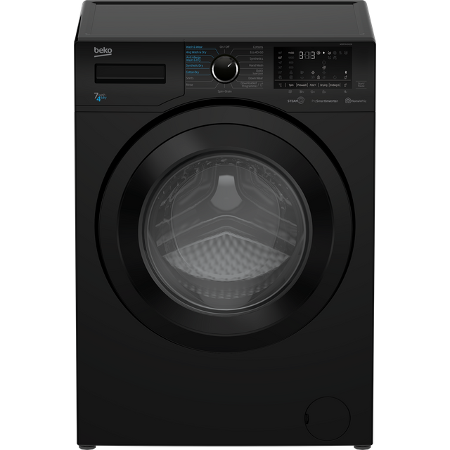 Beko WDER7440421B 7Kg / 4Kg Washer Dryer with 1400 rpm - Black - WDER7440421B_BK - 1