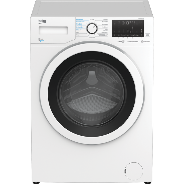 Beko WDER8540421W 8Kg / 5Kg Washer Dryer with 1400 rpm - White - WDER8540421W_WH - 1