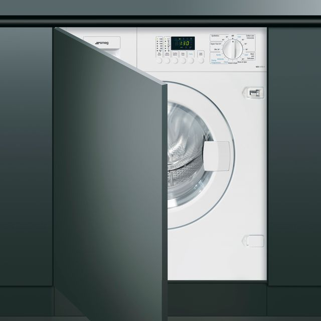 Smeg WDI147D-1 Integrated 7Kg / 4Kg Washer Dryer with 1400 rpm - WDI147D-1_WH - 1