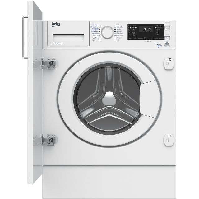 beko logo beko wdir7543101 integrated 7kg 5kg washer dryer