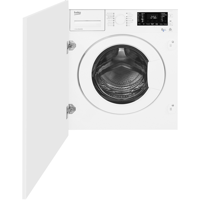 Beko WDIY854310F Integrated 8Kg / 5Kg Washer Dryer with 1400 rpm - A Rated - WDIY854310F_WH - 1