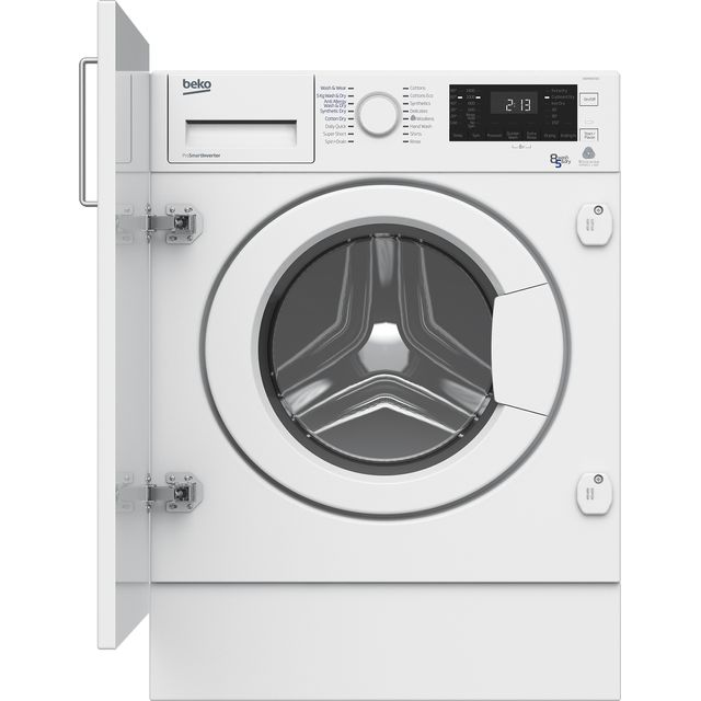Beko WDIY854310F Integrated 8Kg / 5Kg Washer Dryer with 1400 rpm - WDIY854310F_WH - 1