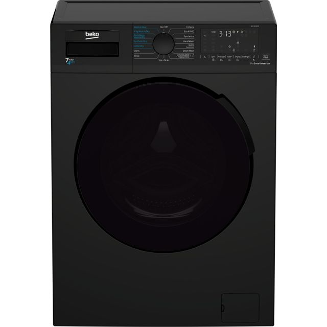 Beko WDL742431B 7Kg / 4Kg Washer Dryer with 1200 rpm - Black - B Rated