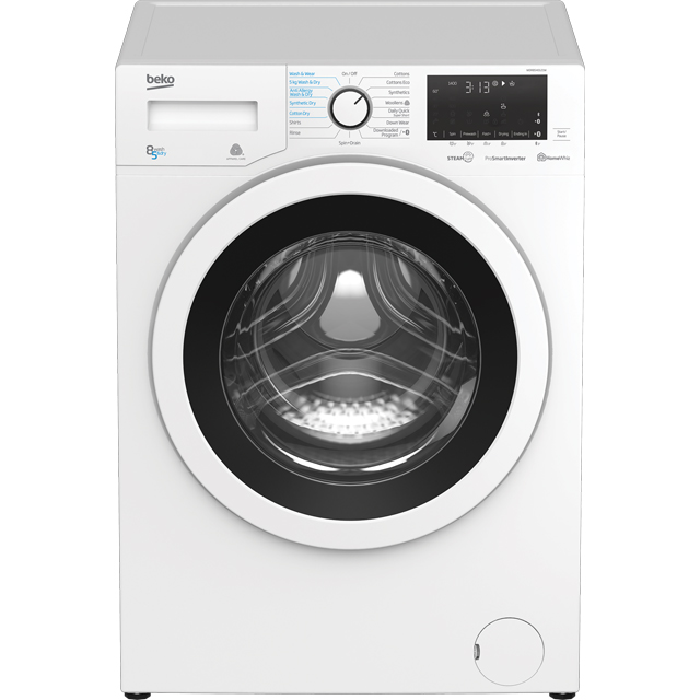 Beko WDR8540121W 8Kg / 5Kg Washer Dryer with 1400 rpm - White - WDR8540121W_WH - 1