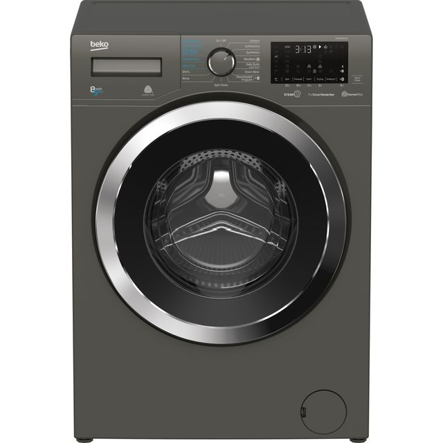 Beko WDR8540141G 8Kg / 5Kg Washer Dryer with 1400 rpm - Graphite - A Rated - WDR8540141G_GH - 1