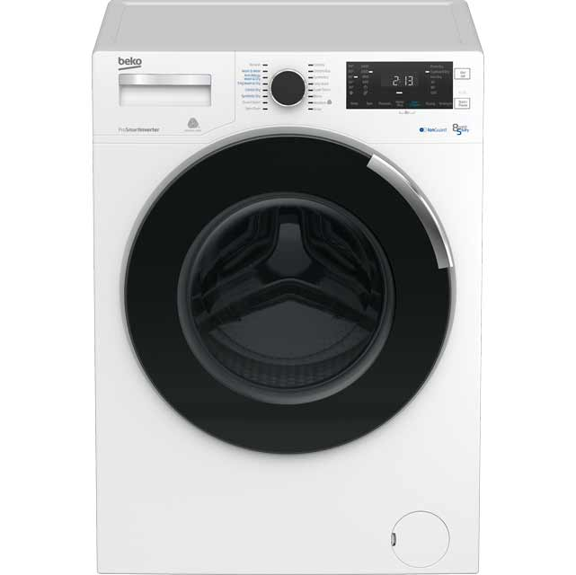 Beko WDR854P14N1W Free Standing Washer Dryer in White