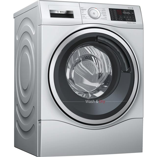 Bosch Serie 6 10Kg / 6Kg Washer Dryer - Silver - A Rated