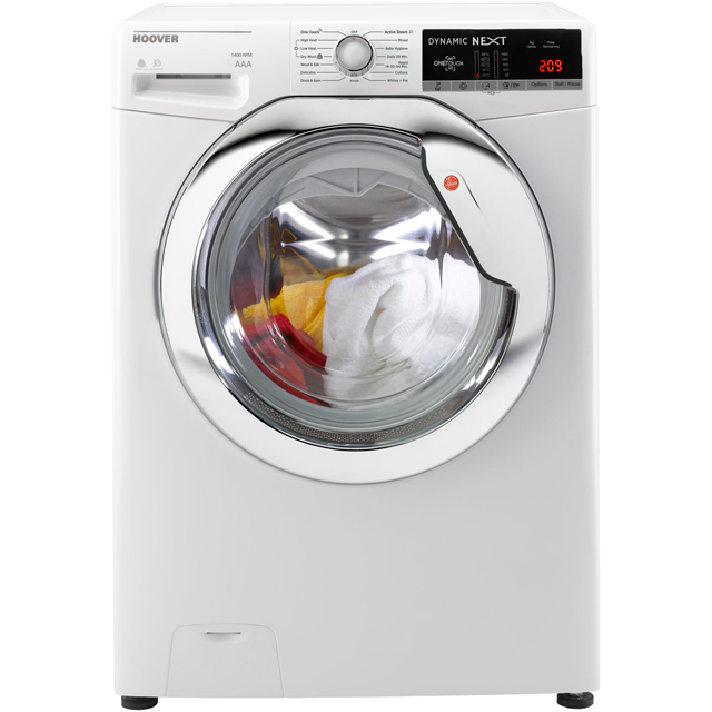 Hoover Dynamic Next Advance WDXOA4106HC 10Kg / 6Kg Washer Dryer with 1400 rpm - White / Chrome - A Rated - WDXOA4106HC_WHCR - 1