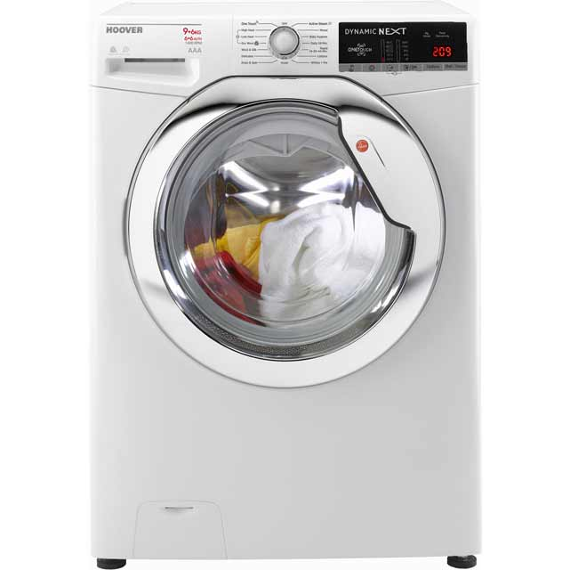 hoover logo hoover dynamic next wdxoa496c 9kg 6kg washer dryer with rpm white