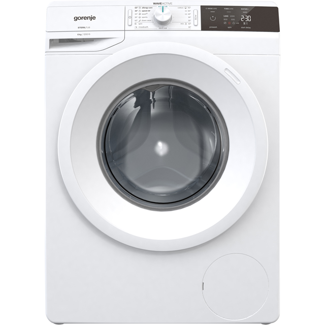 Gorenje WaveActive WE62S3 6Kg Washing Machine with 1200 rpm - White - A+++ Rated - WE62S3_WH - 1