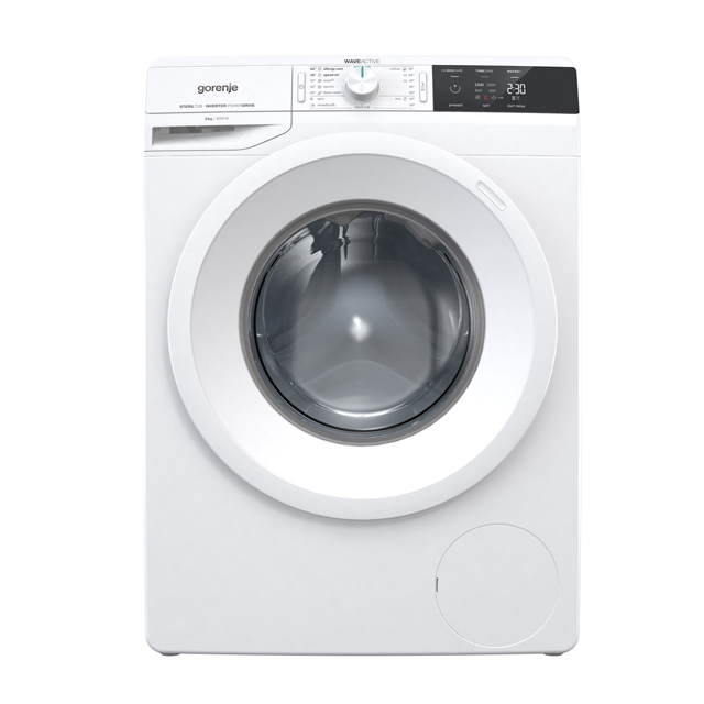 Gorenje WEI823 8Kg Washing Machine with 1200 rpm - White - A+++ Rated - WEI823_WH - 1