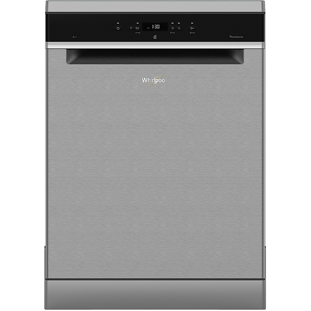 Whirlpool WFC3C24PXUK Standard Dishwasher - Stainless Steel - A++ Rated - WFC3C24PXUK_SS - 1