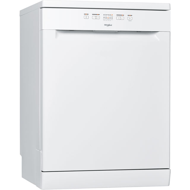 Whirlpool SupremeClean WFE2B19 Standard Dishwasher - White - A+ Rated Best Price, Cheapest Prices