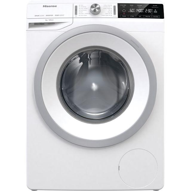 Hisense WFGA8014V 8Kg Washing Machine with 1400 rpm - White - A+++ Rated