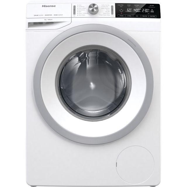 Hisense WFGA9014V 9Kg Washing Machine with 1400 rpm - White - A+++ Rated