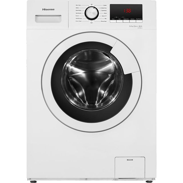 Hisense WFHV6012 6Kg Washing Machine with 1200 rpm - White - A+++ Rated - WFHV6012_WH - 1