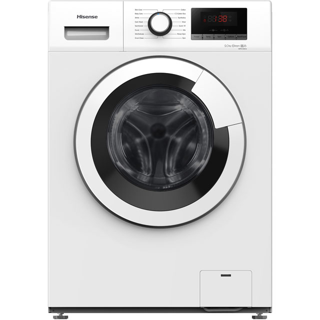 Hisense 9Kg Washing Machine - White - A+++ Rated