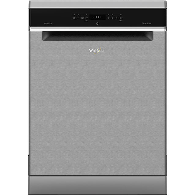 Whirlpool WFO3T3236PXUK Standard Dishwasher - Stainless Steel - A++ Rated - WFO3T3236PXUK_SS - 1
