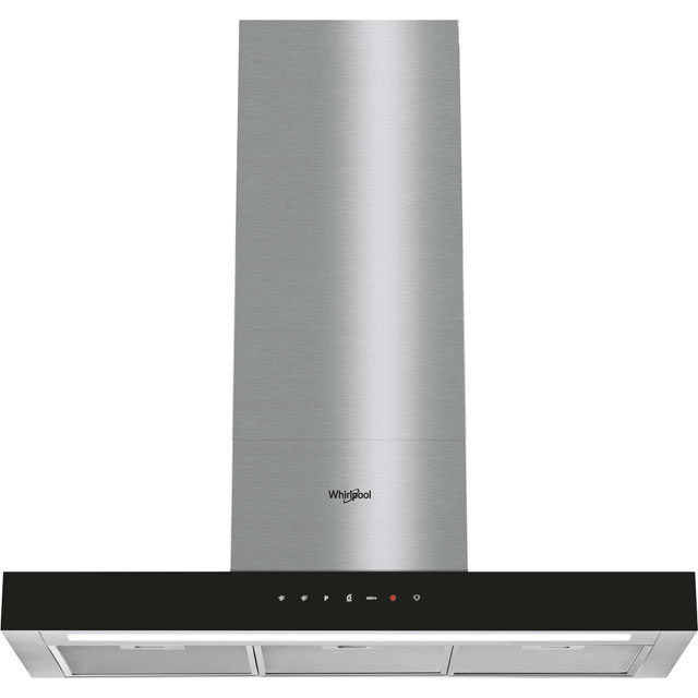 Whirlpool W Collection WHBS92FLTK 90 cm Chimney Cooker Hood - Black - A Rated - WHBS92FLTK_BK - 1
