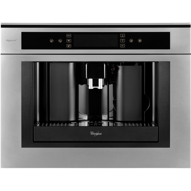 Whirlpool ACE102/IXL Built In Bean to Cup Coffee Machine - Stainless Steel - ACE102/IXL_SS - 1
