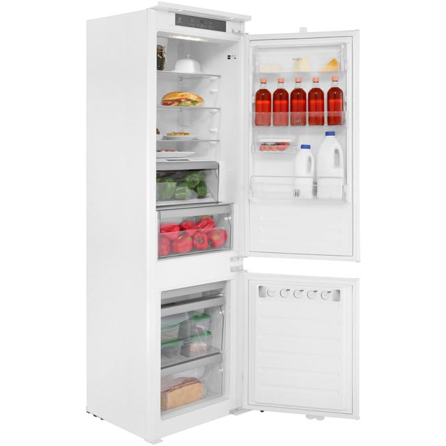 Whirlpool Integrated 70/30 Frost Free Fridge Freezer with Sliding Door Fixing Kit - White - A+ Rated