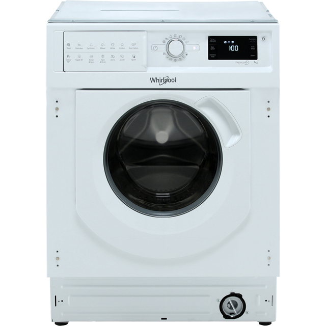 Whirlpool BIWMWG71253UK Integrated 7Kg Washing Machine with 1200 rpm - A+++ Rated - BIWMWG71253UK_WH - 1