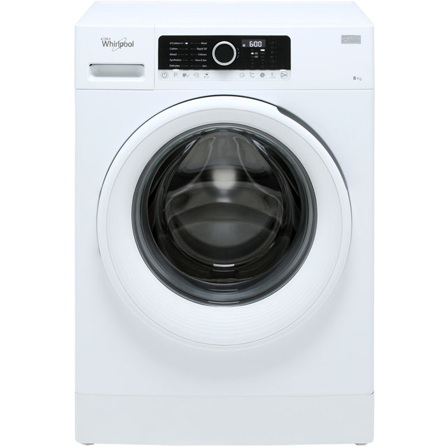 Whirlpool FSCR80410 8Kg Washing Machine with 1400 rpm - White - A+++ Rated - FSCR80410_WH - 1