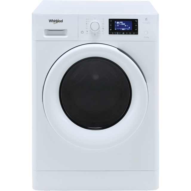 Whirlpool FreshCare FWDD117168W 11Kg / 7Kg Washer Dryer with 1600 rpm - White - A Rated - FWDD117168W_WH - 1