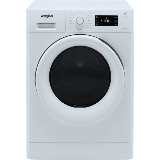 Whirlpool FreshCare FWDG86148W 8Kg / 6Kg Washer Dryer with 1400 rpm - White - FWDG86148W_WH - 1