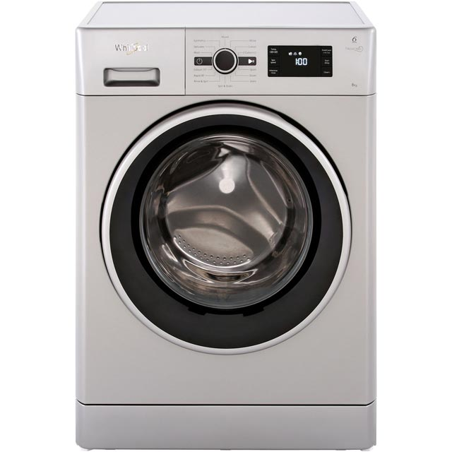 Whirlpool FWG81496S 8Kg Washing Machine with 1400 rpm - Silver - A+++ Rated - FWG81496S_SI - 1