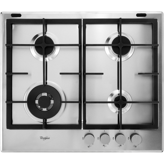 Whirlpool GMA6422/IXL 59cm Gas Hob - Stainless Steel - GMA6422/IXL_IX - 1